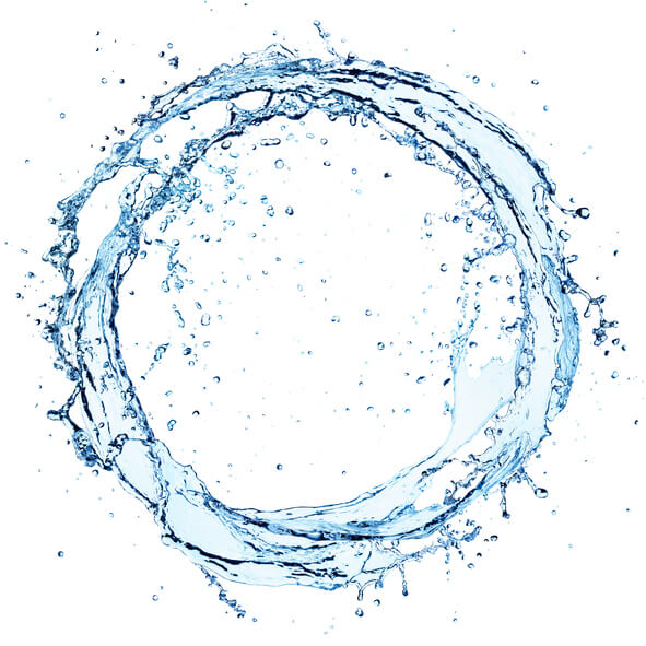 Water Splash In Circle – Round Shape On White