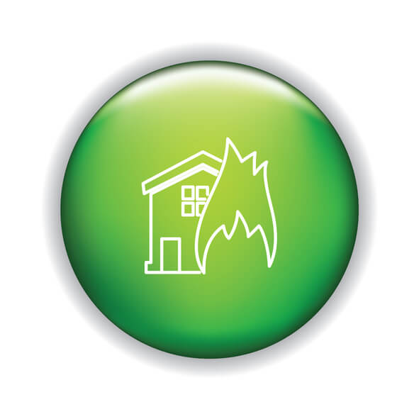 Thin Line Icon On Shiny Button – Home Insurance